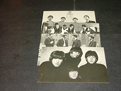 Set Of 4 Beatles Postcards Photos Of Group Scenes From The Early 1960's
