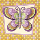 : Dimensions 9 Inch x9 Inch Paint By Number 3D Watercolor Kit - Funky Butterfly