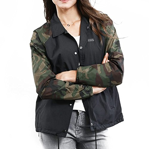 Chaqueta Vans �?Wm Thanks Coach Print negro/multi talla: S (Small)
