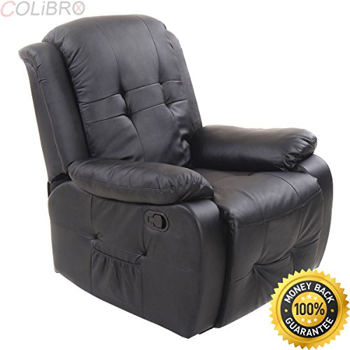 COLIBROX--Ergonomic Tufted Recliner Massage Sofa Chair Lounge Executive Heated w/ Control. reclining sofa with console and massage. reclining sectional with massage and heat. heated massage recliner. -
