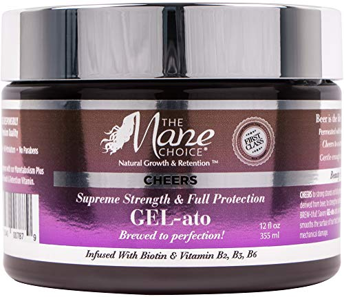 Curling Shine Gel Curl Weightless - THE MANE CHOICE - Cheers Super Strength & Full Protection Gel-ato, 12 Oz