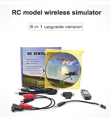 Mobiliarbus 8-in-1 RC Flight Simulator Wireless Simulator for i6x FUTABA AT9s AT10