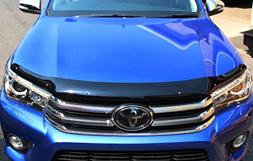 Toyota Landcruiser LC-150 2014 onwards Bonnet Guard Protector Dark Smoke