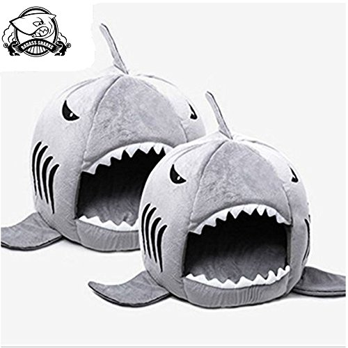 badass sharks shark pet house products warm soft dog house pet sleeping bag shark dog kennel cat. Black Bedroom Furniture Sets. Home Design Ideas