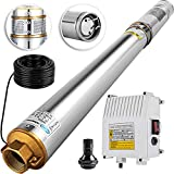 Happybuy Deep Well Submersible Pump 2HP 220V Submersible Well Pump 423ft 26GPM Stainless Steel Deep Well Pump for Industrial and Home Use
