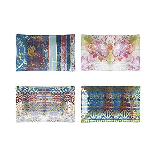 Tracy Porter 1183687-4MT Mini Rectangle Trays (Set of 4), Multicolor ()