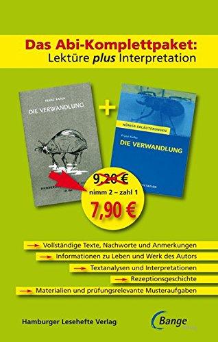 Die Verwandlung - Das Abi-Komplettpaket: Lektüre plus Interpretation. Königs Erläuterung mit kostenlosem Hamburger Leseheft