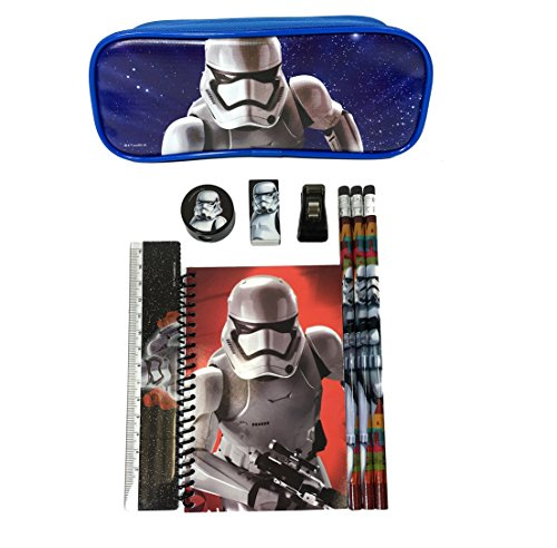 [Disney Star Wars Storm Trooper Stationary Pencil Set with Pencil Pouch] (Stormtrooper Disney)