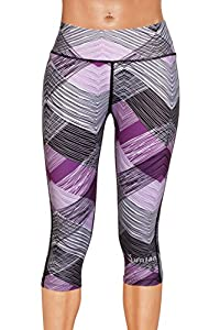 Junlan Women Yoga Capri Pants Workout Leggings Gym Shorts Clothes Running Stretch Tights Athletic Fitness Exercise Active Wear
