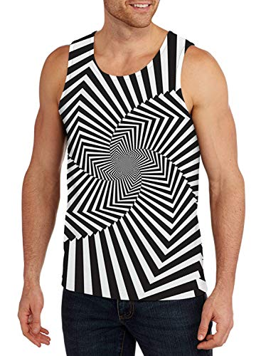 (Belovecol Mens Cool Tank Tops 3D Print Zebra Sleeveless Summer Graphic Tees Shirts XL)