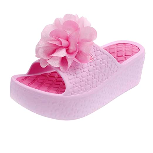 7aafbe0b3b69d Womens Summer Casual Sandals Size 5-7.5, Anti-Slip Wedges Thick Soles  Platform Shoes Flower Beach Slippers Hole Shoes