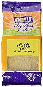 NOW  Psyllium Husks Whole, 16-Ounce