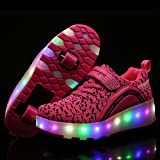 LED Lighting Up Shoes With wheels Roller Skate Shoes Sport Sneaker For Little Kid/Big Kid
