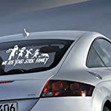 """Aiwall C-007 Aiwall WE ATE YOUR STICK FAMILY Decal Zombies Window Funny Vinyl Decal 9""""*6.5"""""""