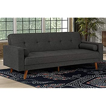 Amazon Com Dhp Andora Coil Futon Sofa Bed Couch With Mid