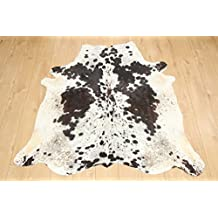 Western Cowhide Rug - Beautiful Tri Coloured - Luxurious Cowhide Rug - Approx 152 cm x 147 cm - D52