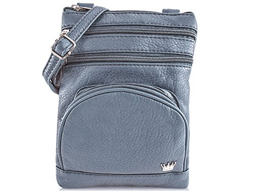 - Purse King Mini Duchess Cross Body Bag (Slate Green)