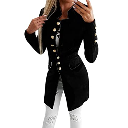 5b3039982a8 Amazon.com: Women Fashion Simple Office Lady Lapel Suit Coat Long-Sleeve  Jacket Button Coat,Sunsee Gril 2019 New,Home Travel,Walking,Must-Have:  SUNSEE ...
