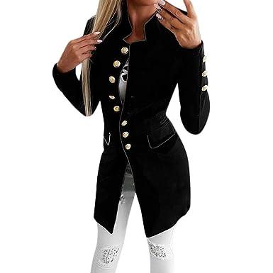 MEIbax Abrigos Mujer Invierno Moda para Mujer Sencillo Office Lady Lapel Suit Coat Chaqueta de Manga Larga Botón Escudo: Amazon.es: Ropa y accesorios