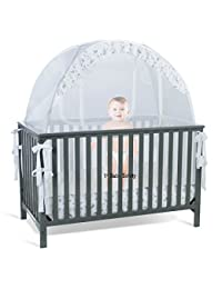 SEE THROUGH MESH TOP - Baby Crib Tent Safety Net Pop Up Canopy Cover BOBEBE Online Baby Store From New York to Miami and Los Angeles