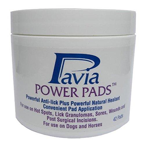 (Pavia Power Pads with Natural Antibacterial Bee Propolis and Oregano Oil. Promotes healing of lick granulomas, sores, and incisions. 42 pads/jar.)