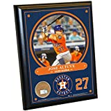 """MLB Houston Astros Jose Altuve Plaque with Game Used Dirt from Minute Maid Park, 8"""" x 10"""", Navy"""