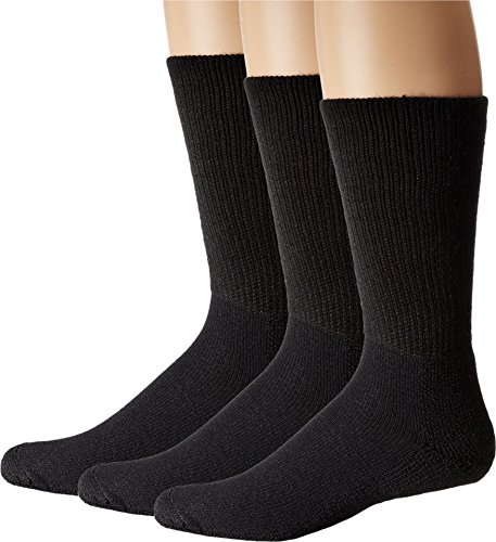 (Thorlos Unisex Uniform Crew 3-Pair Pack Black X-Large)