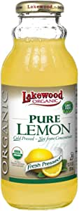 Lakewood Organic Pure Lemon Juice, 370 ml, Lemon