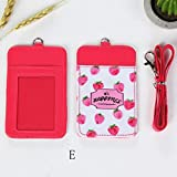 Sikye Fruit Double-Layer Card ID Holders Bus Credit Cover Case Cute Mini Wallet