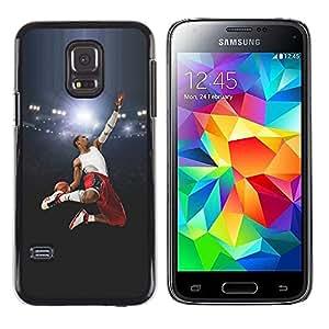 LECELL--Funda protectora / Cubierta / Piel For Samsung Galaxy S5 Mini, SM-G800 -- Volar Baloncesto héroe --