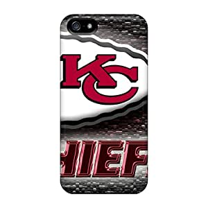 Shock Absorption Hard Phone Cases For Iphone 5/5s (IPB6741pTLM) Allow Personal Design Colorful Kansas City Chiefs Pictures