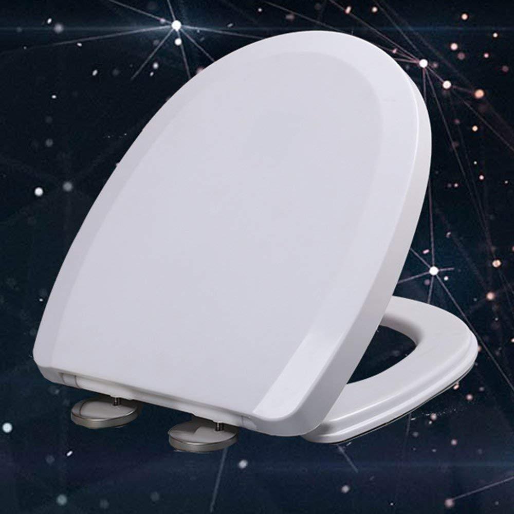 RoadRoma Pp Toilet Seat Cover Cover Set Addensare Ricambio O//V//U di Serie WC White