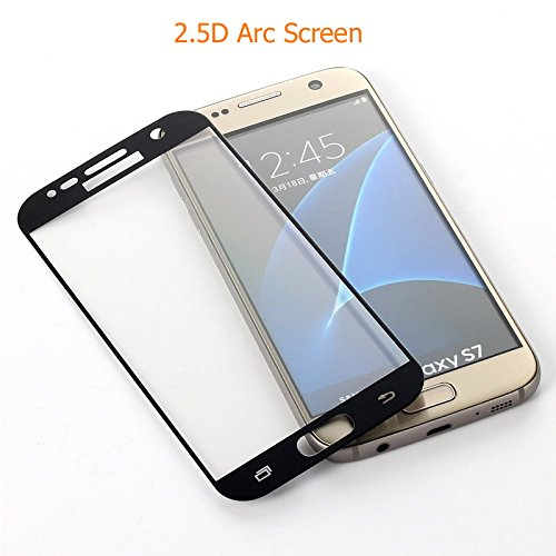 Screen Protector Protective Film For Samsung Galaxy S7 Full Cover PET Electroplating Tempered Glass Anti-fingerprints 9H Hardness 4D Arc Edge 0.26mm Six Color (Blue)