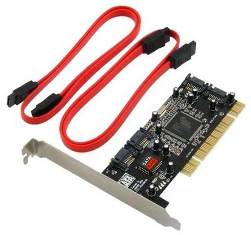 Syba SD-SATA-4P Serial ATA150 4x Ports RAID Controller Card with SIL3114 Chipset - Retail by Global Marketing Partners