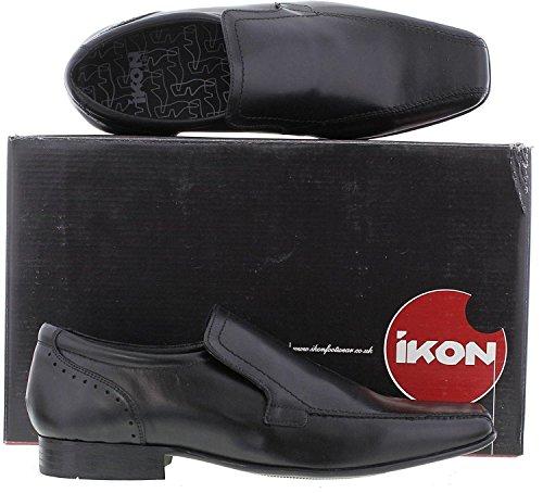 Ikon Formal Zapatos Saxon Slip On Cuero Nagro Hombres Awx8qZ6Ar
