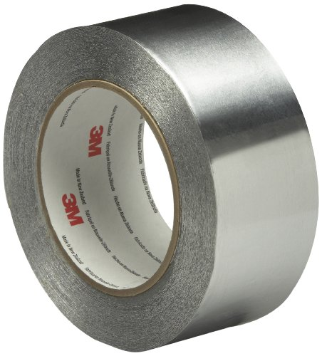 (3M Linered Aluminum Foil Tape 3380 Silver, 48 mm x 45 m (Pack of 1))