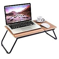Custpromo Portable Laptop Desk iPad Desk Bed Tray Adjustable Breakfast Table with Tilting Top