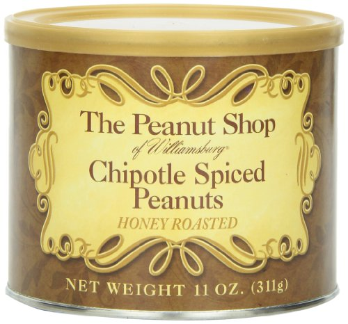 The Peanut Shop of Williamsburg Chipotle Spiced Honey Roasted Peanuts, 11-Ounce - Williamsburg Premium
