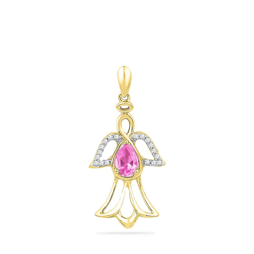 Sapphire Pendant Yellow Gold Necklace Pear Solitaire