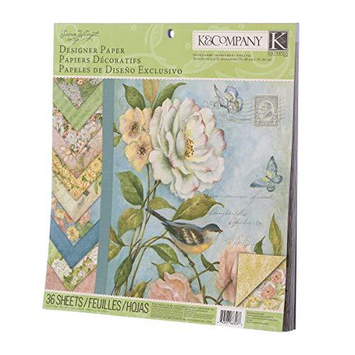 K & CO. KC30-663466 Paper Pad Floral 12X12