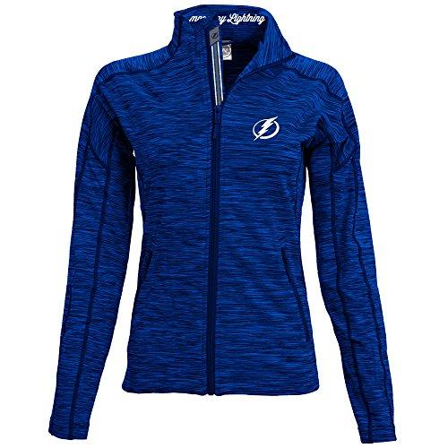 NHL Tampa Bay Lightning Adult Women Atlantis Banner Stripe Full Zip Mid-Layer, Large, Royal Blue (Tampa Bay Jacket)