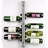 Vivona Hardware & Accessories Mental 12 Hole Wine Water Bottle Holder Wall Mounted Wine Rack Holder Stand Kitchen Bar
