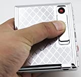 Beautiful 16 Pack Cigarette Case With Built in USB Rechargeable Lighter - FOR KING SIZE CIGARETTES- SILVER COLOR (GD-1331-3 , FREE CAR sticky pad for Phone PDA MP3 MP4)