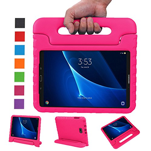 NEWSTYLE Samsung Galaxy Tab A 10.1 Kids Case - Shockproof Light Weight Protection Handle Stand Case for Samsung Galaxy Tab A 10.1 Inch (SM-T580/T585) Tablet 2016 Release (Rose) Not Fit Other Models