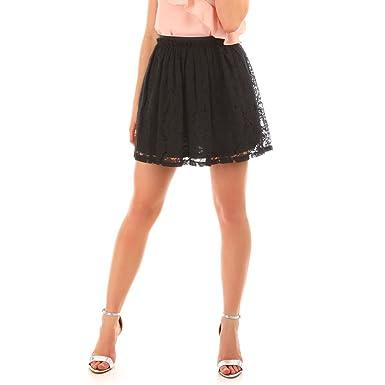 ddffef6a7137 La Modeuse - Jupe Patineuse en Dentelle  Amazon.fr  Vêtements et ...