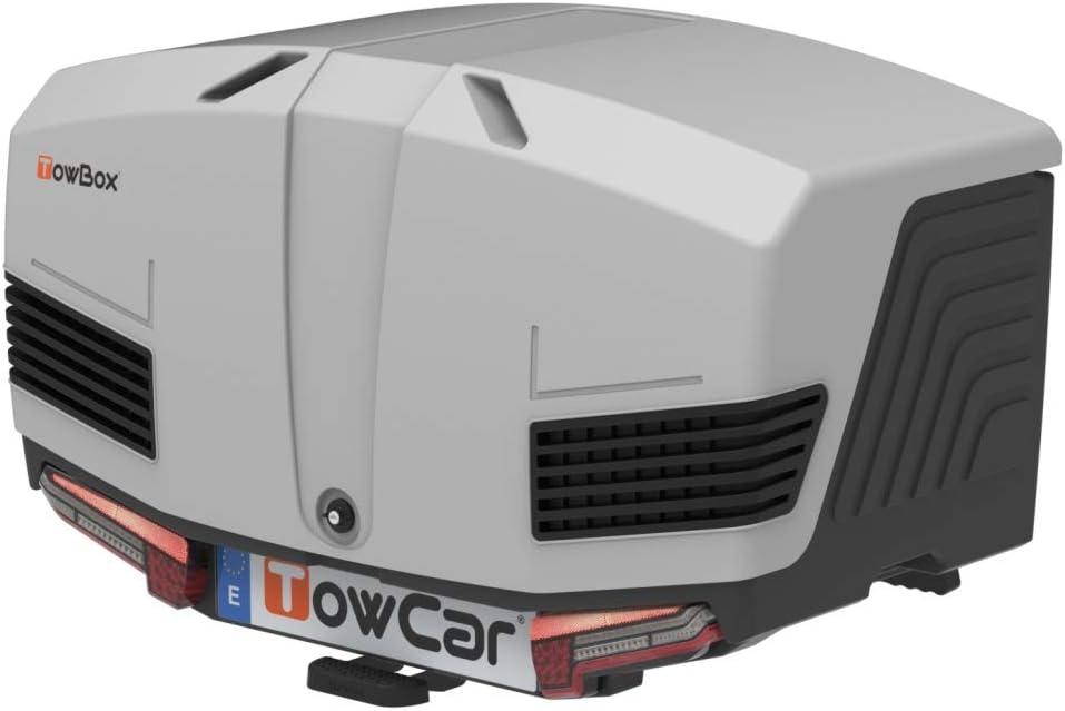 Towbox V3 - Caja de transporte para enganche de remolque, color gris: Amazon.es: Coche y moto