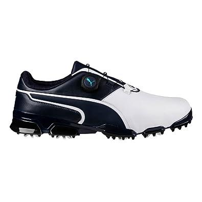 61519b8c3d0 PUMA Golf Men s Titantour Ignite DISC Golf Shoe White Peacoat 8.5 ...