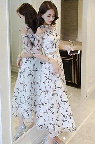 Generic Famous_Hong_Kong_flavor_ retro dress _children_ summer fairy _yarn_ 2018 new _organza_leakage_ shoulder dress by Generic