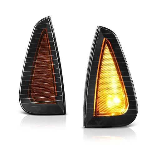 VIPMOTOZ Front Turn Signal Cornering Light Lamp For 2006-2010 Dodge Charger, Matte Black Housing, Driver and Passenger Side