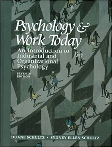 Psychology and Work: an introduction